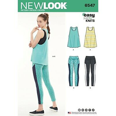 New Look Sewing Pattern 6547 Sports Atheltics Leggings Top
