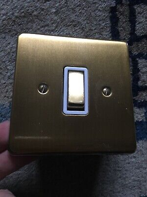 VIntage Gold Coloured Metal Crabtree Light Switch