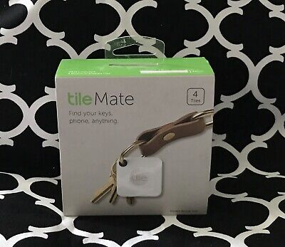 Tile Mate 4pk Bluetooth Tracker Smart GPS Tracker Find Phone Key Finder MSRP $70