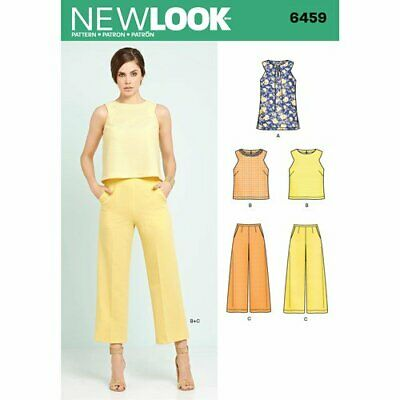 New Look Sewing Pattern 6459 Croped Trousers and Sleevless Top Tunic