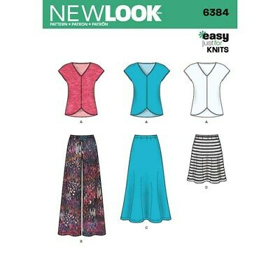 New Look Sewing Pattern 6384 top &  3 skirt lengths to make