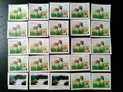 Uncancelled stamps no gum (lot of 25 x $1) Total face value of $25
