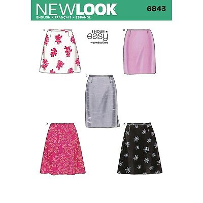 New Look Sewing Pattern 6843 4 Styles of Skirt easy Pattern