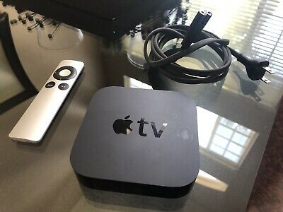 Apple TV A1469 (3rd Generation) 8GB HDD - Streamer Airplay Remote Power Cord