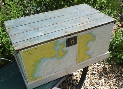 antique Pine chest Victorian blanket box coffer antique 19th century