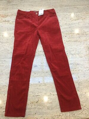 Brand New With Tags Girls Red Velvet Trousers From Next - Age 10