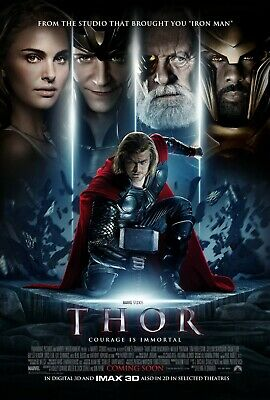 Marvel Thor MCU Large Movie Poster Canvas Or Photo 24X36 20X30 16X24