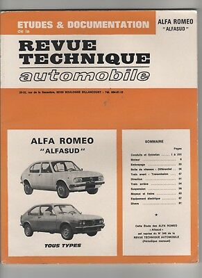Revue Technique Automobile Rta Alfa Romeo Alfasud 1976