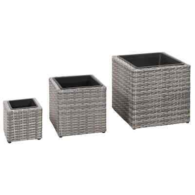 H64 x W31 x D31 Florabest Wicker Rattan Effect Tall Conical Planter Brown