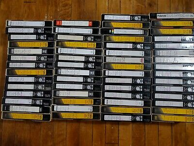 9 huge lot recorded tv from 80s/90s on VHS VCR tapes sold as blank commercials