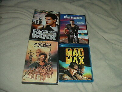 Mad Max BLURAY DVD LOT Fury Road Mel Gibson Road Warrior is NEW