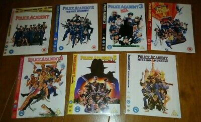 POLICE ACADEMY COMPLETE SERIES 1 - 7 DVD Bundle Cult Family Action Comedy