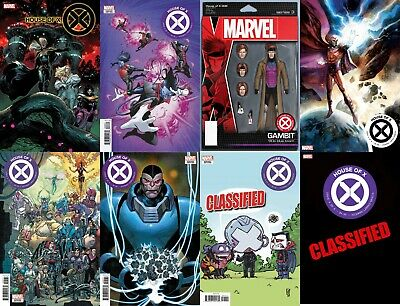 House Of X #6 1:10 Variant Set Of 8 Covers Connecting Hickman X-Men Marvel Comic