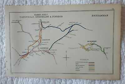 1908 RAILWAY CLEARING HOUSE Junction Diagrams No.94 BARRY JUNC,BRYNAMMAN,PENRHOS