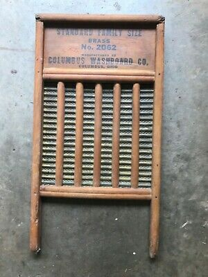 Columbus Washboard Company Authentic Brass No. 2062