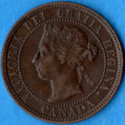 Canada 1898 H 1 Cent One Large Cent Coin - EF
