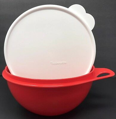 """Tupperware Thatsa Bowl Jr 12 Cup Mixing Container Chili Red #2677 """"Used"""""""