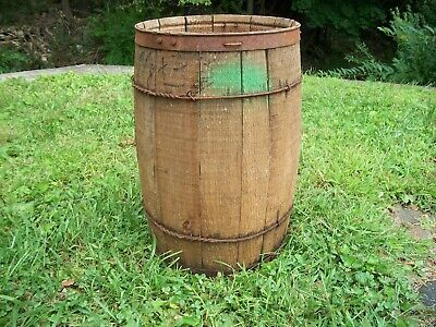 Vintage Wooden Nail Keg or Barrel