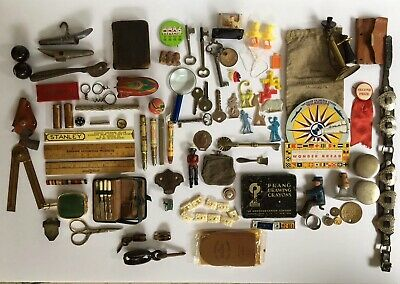 Antique / Vintage Junk Drawer Lot