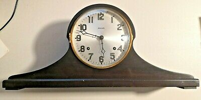 Antique Ansonia Chime Tambour Mantle Clock Sonia with Key  --  224