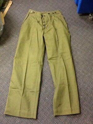 1944 Dated Hbt Field Trousers Pants U.s. Army Wwii Military Vintage Nice