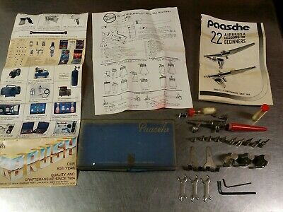 Paasche Type H Airbrush Paint System Parts Lot