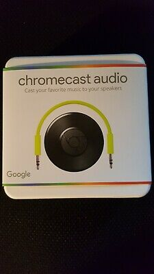 New Google Chromecast Audio Media Streamer - Black (GA3A00147-A14-Z01)