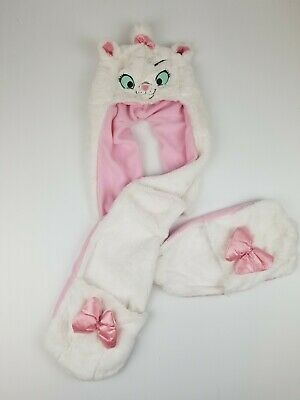 Disney Parks The Aristocats Marie Cat Plush Hat With Scarf Mittens Child's Kid's
