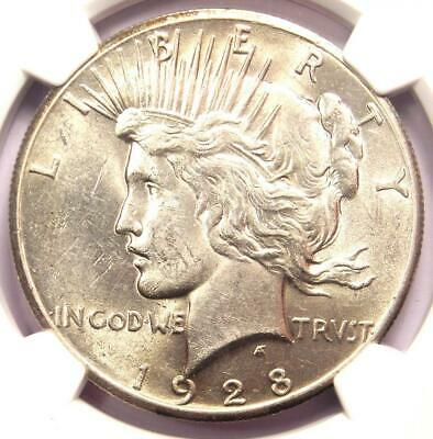 1928 Peace Silver Dollar $1 - NGC Uncirculated Detail - Rare 1928-P MS UNC Coin