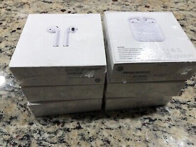 NEW Apple AirPods 2nd Generation with Wireless Charging Case - White (MRXJ2AM/A)