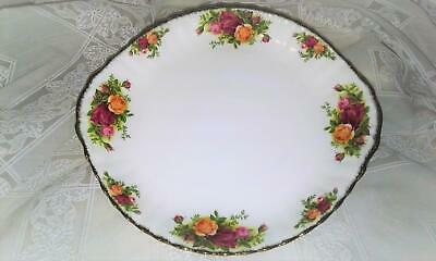 "Royal Albert Old Country Roses 10.5"" Handled Cake Serving Plate Shabby Chic"