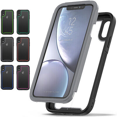 Shockproof Heavy Duty Transparent Case Hard Tough Cover For iPhone X XS Max XR