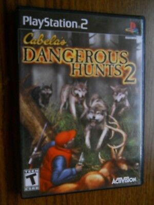 Cabela's Dangerous Hunts 2, Playstation 2, Game, Manual, Case, Very Good