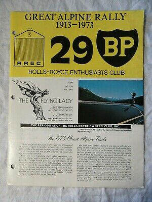 ROLLS ROYCE GREAT ALPINE RALLY 1913-1973 Enthusiasts Club Special