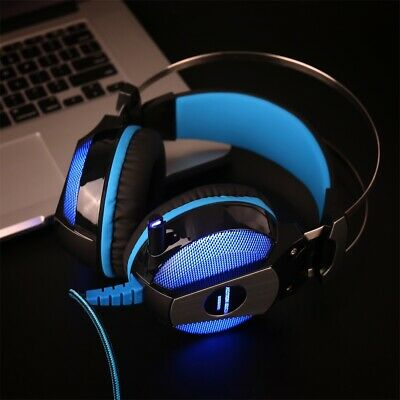 3.5mm Gaming Headset MIC LED Headphones For PC Laptop PS4 Slim Pro Xbox One L