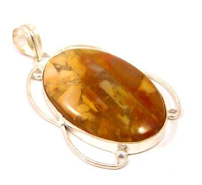 Dashing Camel Jasper .925 Silver Plated Handmade Pendant Jewelry JC4754