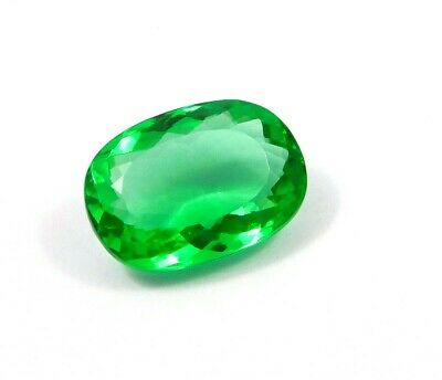 Treated Faceted Emerald Gemstone 39.8CT 25x17mm MJ1890