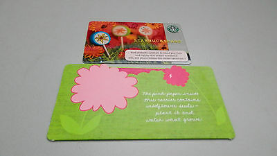 2006 Starbucks Lolly Pops Card With Flower Sleeve Holder /No Value