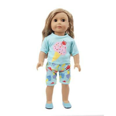 Suitable for 18-inch Baby Dolls Tops + Pants Outfits Clothes Dress Accessories