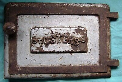 Vintage Cast Iron Stove Door .. Foster Stove Company ..