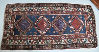 Antique handmade Kazak carpet, 19th century