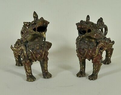 Pair of Buddhist Guardian lions, Thailand, 20th century