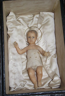 Baby Jesus, Antique Wax Figurine in the Original Box, Waxfigur, alt, Jesuskind