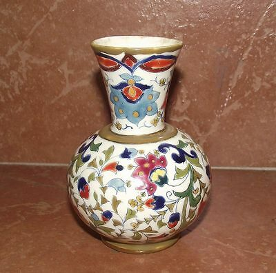 Nicely Decorated Fischer Vase, c. 1880,