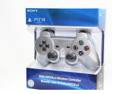 Brand NEW Sony PlayStation 3 PS3 DualShock 3 Wireless SixAxis Controller Silver