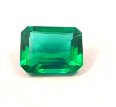 Treated Faceted Emerald Gemstone 15CT 15x11mm RM13949