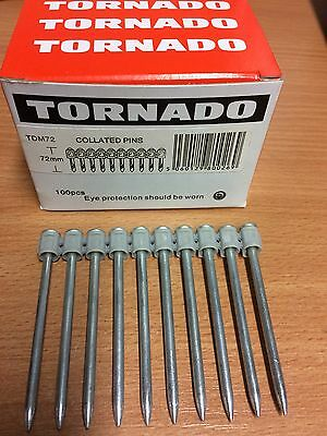 HILTI TYPE 72MM DX460 MX TYPE NAIL GENUINE TORNADO DX 460 TDM72 mm MAGAZINE