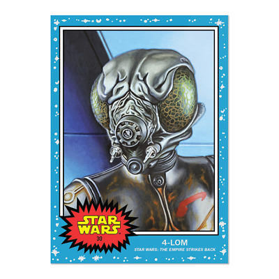 2019 Topps Star Wars Living Set Card #30 4-Lom In Hand
