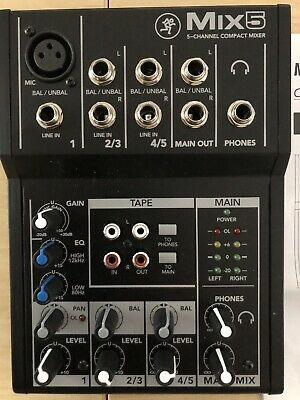 Mackie MIX 5 Compact 5 Channel personal Mixing desk