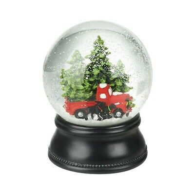 Heaven Sends Christmas Trees & Red Car Snowglobe - Christmas Decorations